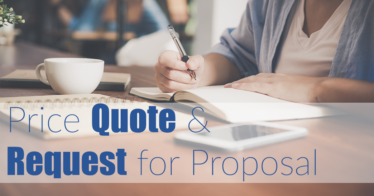 Price Quote & Request for Proposal