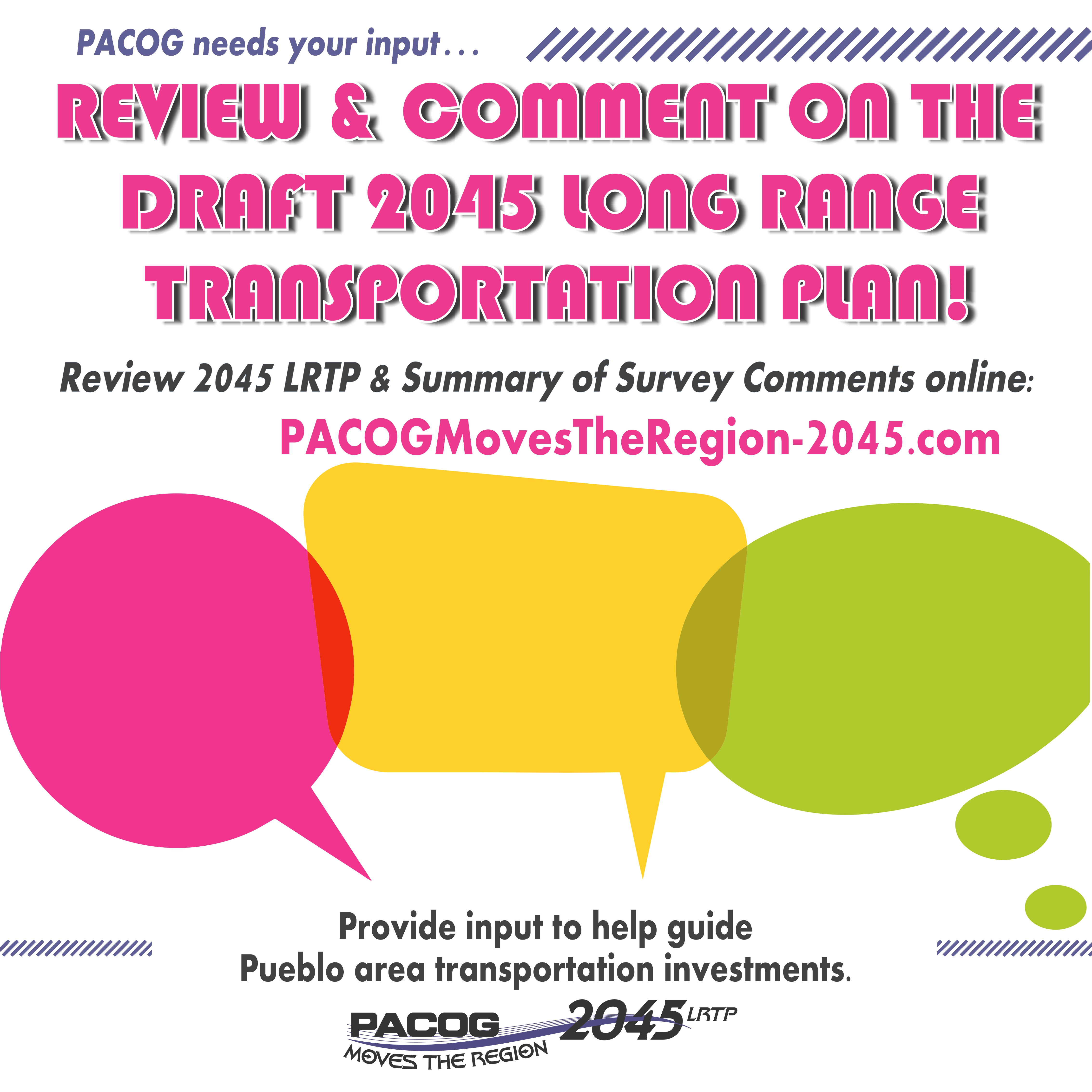 Public Comment on draft 2045 LRTP