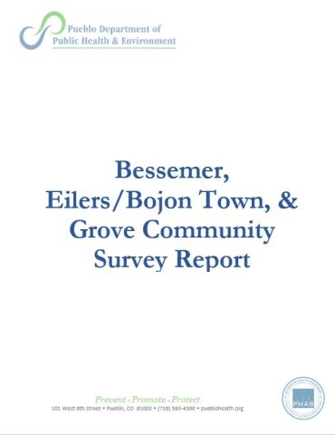 Community Impact Measurement Survey Report Bessemer, Eilers/Bojon Town, and Grove
