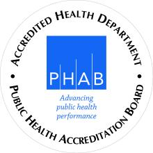 Accredited Health Department Seal from the Public Health Accreditation Board